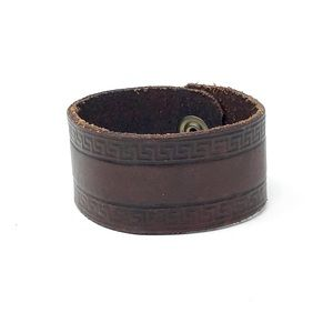 "Leather Cuff Bracelet 7"" up to 7.75"""
